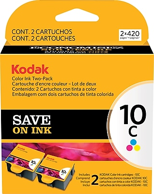 Kodak 10C Color Combination Ink Cartridges, Standard, 2/Pack (1829993)