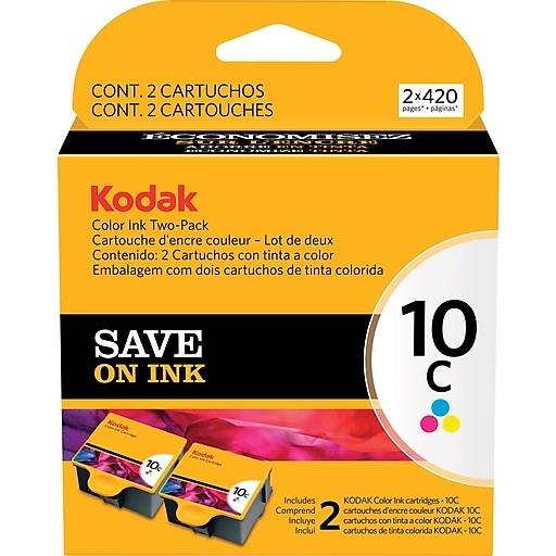 Kodak 10C Tri Color Ink Cartidges 1829993 2 Pack