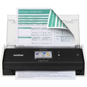 Brother® ADS-1500W Compact Color Wireless Desktop Scanner, Refurbished