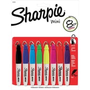Sharpie® Mini Permanent Marker, Fine Tip, Assorted, 8/pk (35109)