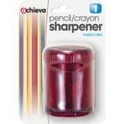 OIC Pencil/Crayon Sharpener, Twin, Red (30240)