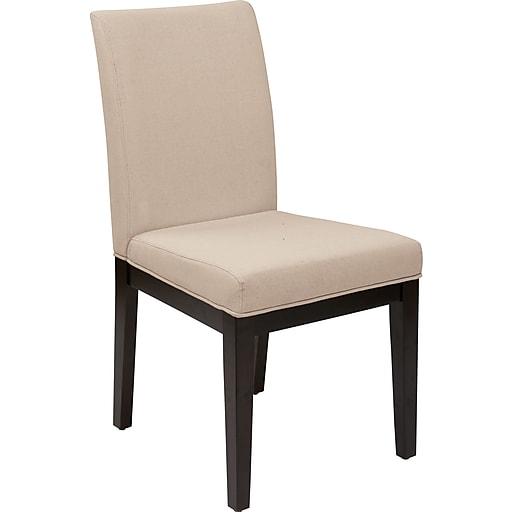 Office Star Avenue Six® Dakota Fabric Desk Chair, Linen