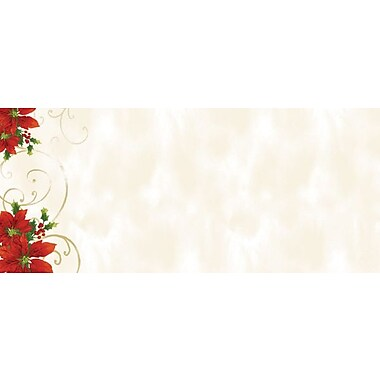 Great Papers® Holiday Card Envelopes Poinsettia Swirl, 40/Count