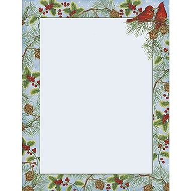 Great Papers® Holiday Stationery Cardinal With Pine , 80/Count