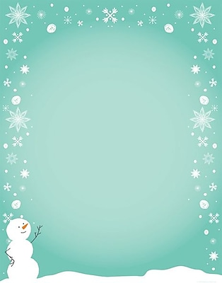 Great Papers® Silly Snowman Letterhead, 80/Pack (2011863)