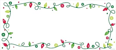 Great Papers® Holiday Card Envelopes String Of Lights Elope, 40/Count