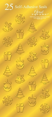 Great Papers® Holiday Seals Golden Icons, 50/Count