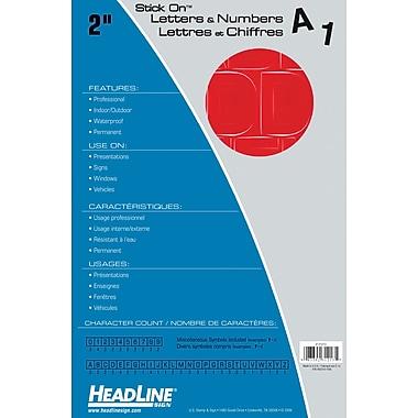 HeadLineMD – Lettres et chiffres adhésifs, 2 po, rouge