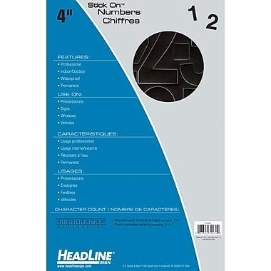 HeadLineMD – Chiffres adhésifs, 4 po, noir