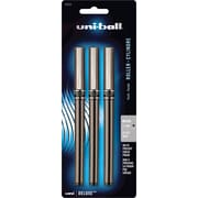 uni - ball® Deluxe Stick Pen, 0.5mm, Black, 3/Pack