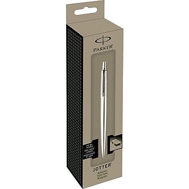 ParkerMD – Stylo à bille à pointe biseautée Jotter Premium en acier inoxydable, pointe moyenne, noir