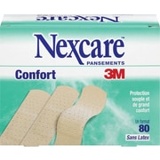 Nexcare Comfort Bandages, One Size, 80/Pack