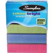 "Swingline® 1/4"" Colour Bright Staples, 2000/Pack"