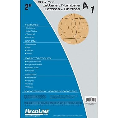 HeadLine - Lettres et chiffres adhésifs, 2 po, doré