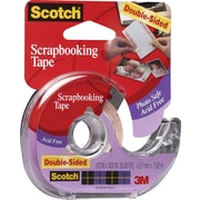 "Scotch® Double - sided Scrapbooking Tape, 1/2"" X 300"""