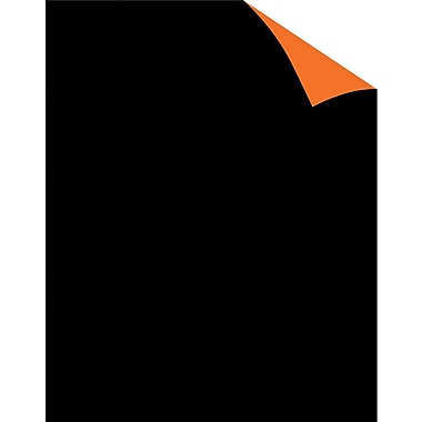Staples® Two Cool Black/Orange Poster Board, 22