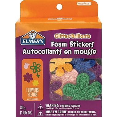 Elmer's® - Autocollants en mousse pailletée, fleurs