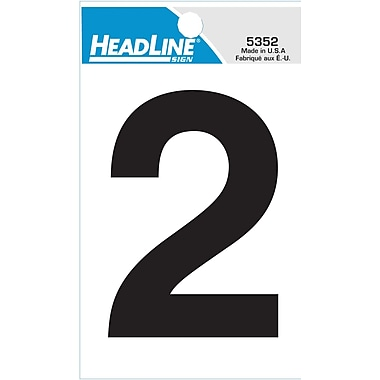 HeadLine - Numéro 2 autoadhésif, 3 po