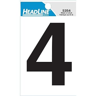HeadLine - Numéro 4 autoadhésif, 3 po