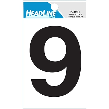 HeadLine - Numéro 9 autoadhésif, 3 po