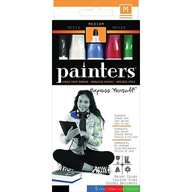 Painters® Opaque Paint Markers, Bright Colours, 5/Pack