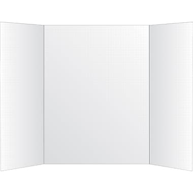 Staples® Tri Fold Grid Foam Board, 14