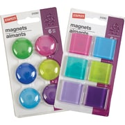 Staples® Coloured Magnets, Assorted Fashion Colours, 6/Pack