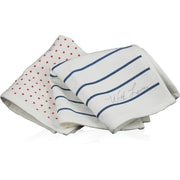 Blue Avocado LC People Towel - Pkg 2, Red Dot/Blue Stripe