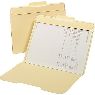 Chemises de classement sécurisées, manille, format lettre, 24/paquet