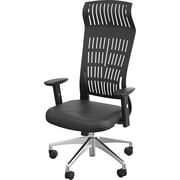Balt Fly Polymer Executive Office Chair, Adjustable Arms, Black (34740BLT)