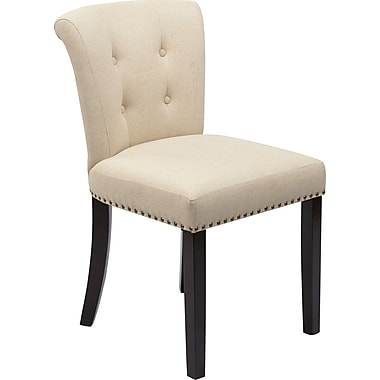 Office Star Avenue Six® Kendal Fabric Desk Chair, Linen