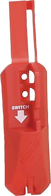 Accuform Signs® STOPOUT® Universal Blockout Wall Switch Lockout, Red