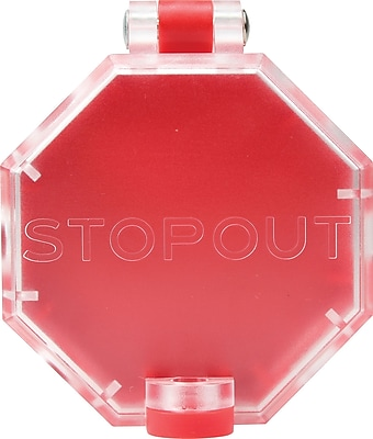Accuform Signs® STOPOUT® Versatile Pneumatic Plastic End Fittings Lockout With Hinge Pin; Red/Clear
