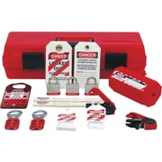 Accuform Signs® Standard Lockout Kit With Lockout Devices and Accessories, Red/Black
