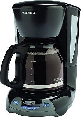 Mr. Coffee 12-Cup Programmable Coffeemaker, Black