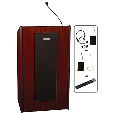 AmpliVox Sound Systems Presidential Floor Lectern, Mahogany (SW450-MH)