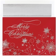 Great Papers® Holiday Cards Christmas Snowflakes , 16/Count