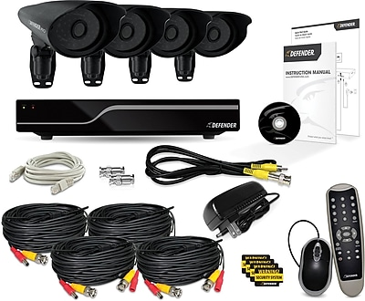 Defender® PRO Sentinel 8CH 1TB DVR with 4 x Hi-Res 600TVL 110ft Night Vision