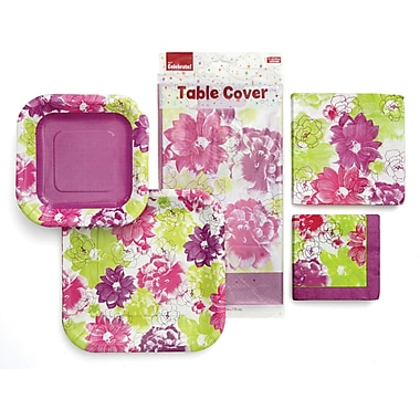 Gartner Studios Party in a Box Kit for 8 Guests, Painterly Flower