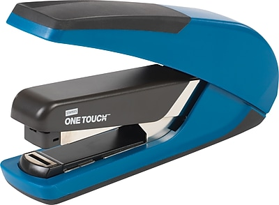 Staples One-Touch™ Plus Desktop Flat Stack Full Strip Stapler, 30 Sheet Capacity, Blue