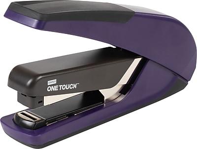 Staples One-Touch™ Plus Desktop Flat Stack Full Strip Stapler, 30 Sheet Capacity, Purple