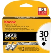 Kodak 30BXL Black Ink Cartridge (1681485) High Yield 2/Pack