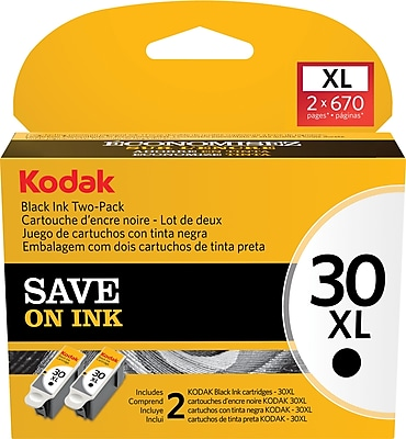Kodak 30BXL Black Ink Cartridge (1681485) High Yield 2/Pack