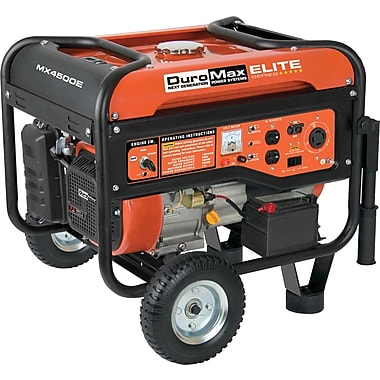 DuroMax® MX4500E Elite Series 4500W, 7 Hp Gasoline Powered Generator with Electric Start & Wheel Kit
