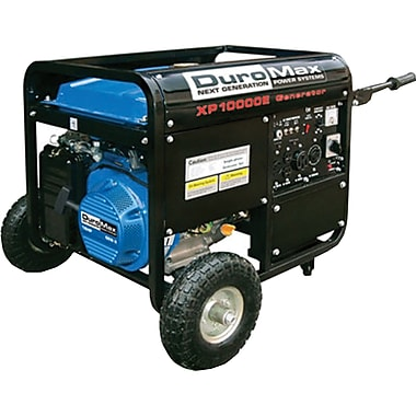 DuroMax® XP10000E-CA 10,000W, 16 Hp Gasoline Powered Electric Start Generator with Wheel Kit, CARB Compliant