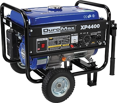 DuroMax® XP4400-CA 4400W 7Hp Recoil Start Generator with Wheel Kit, CARB Compliant