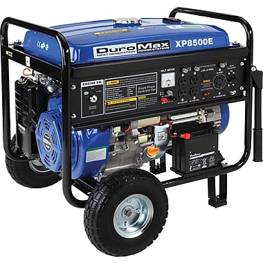 DuroMax® XP8500E-CA 8500W 16 Hp Gasoline Powered Portable Generator with Wheel Kit & Electric Start, CARB Compliant