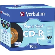 Verbatim® Digital Vinyl CD-R 700MB/80min with Cases, 10-Pack