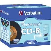 Verbatim® - CD-R 700 Mo/80 min Digital Vinyl avec boîtiers, paq./10