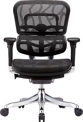 Eurotech Ergohuman Mesh Computer and Desk Office Chair, Adjustable Arms, Black (ME5ERGLTLOW-BLK)